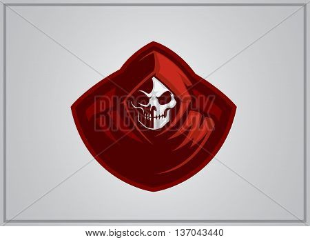 grim reaper mascot for logo teamsport or company