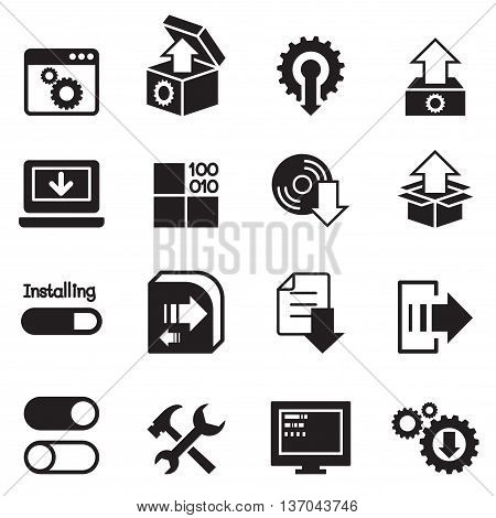 Setup configuration maintenance & Installation icon Vector illustration Graphic design