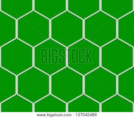 Seamless  soccer goal net texture on green background - 3D illustration