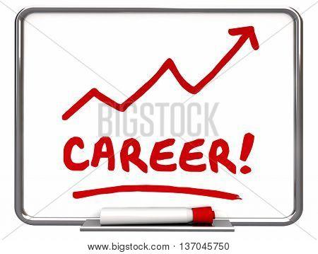 Career Work History Job Prospect Achievement 3d Illustration
