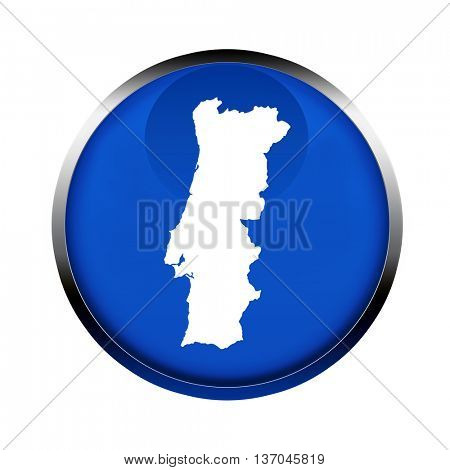Portugal map button in the colors of the European Union.