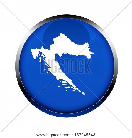 Croatia map button in the colors of the European Union.