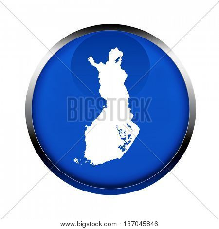 Finland map button in the colors of the European Union.