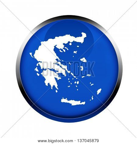 Greece map button in the colors of the European Union.