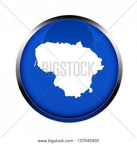 Lithuania map button in the colors of the European Union.