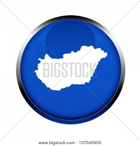 Hungary map button in the colors of the European Union.