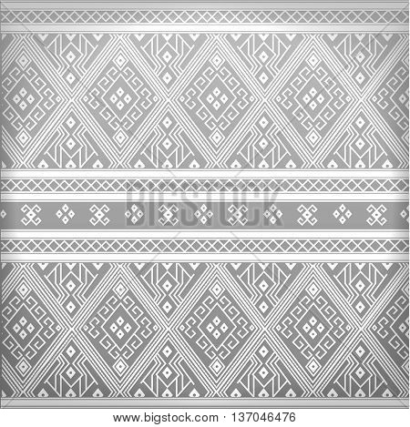 Thai grey pattern line culture for background