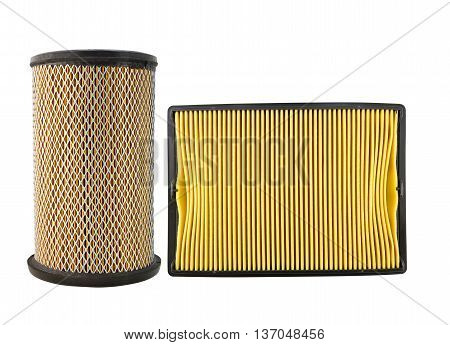 Air Filter Car Isolated On White