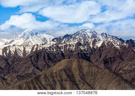 Spectacular beauty mountain scenery Himalaya Range background.