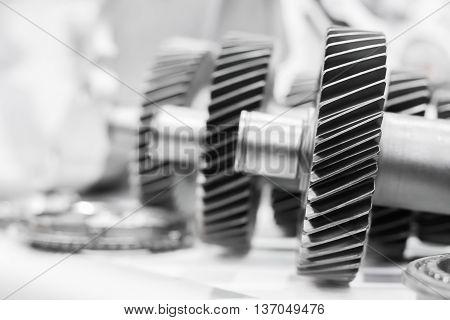 Close Up Cog Wheels Gears