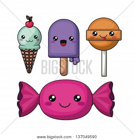 candies character isolated icon design, vector illustration  graphic