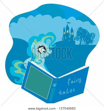 fairy castle appearing from the book , vector illustration