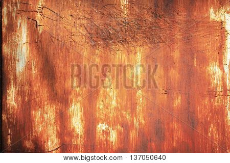 texture of grunge rusty zinc wall background.