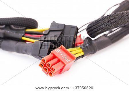 Close Up Pci-e Cable Video Card