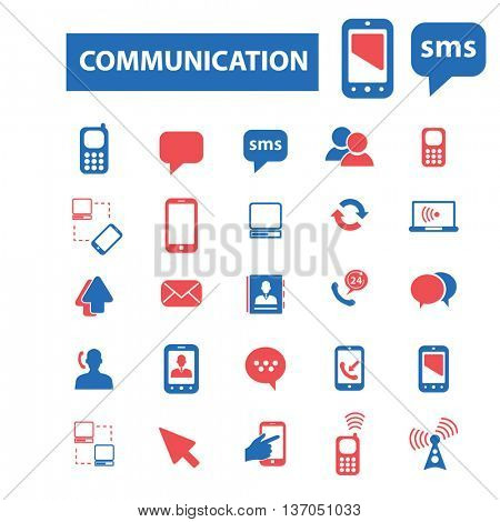 communication, connection, link, internet, online, phone, computer network, hosting, system administration, router, laptop, tower, antenna, equipment, lan, broadcasting, technology icons, signs vector