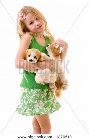Little Girl With Her Friends