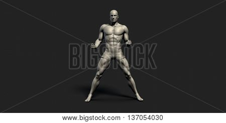 Fitness Tracking or Tracker as a Sports Concept 3D Render