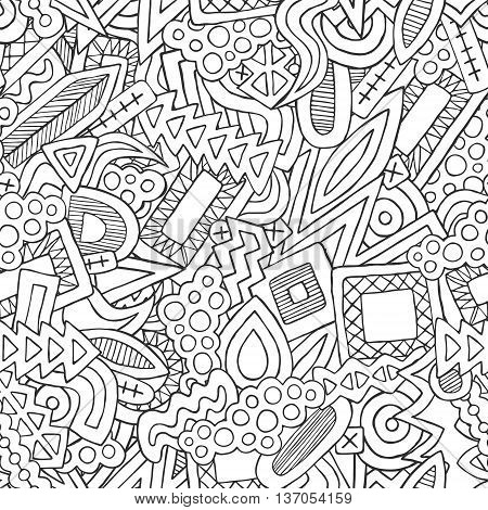 Doodle Abstract Ethnic Elements Pattern
