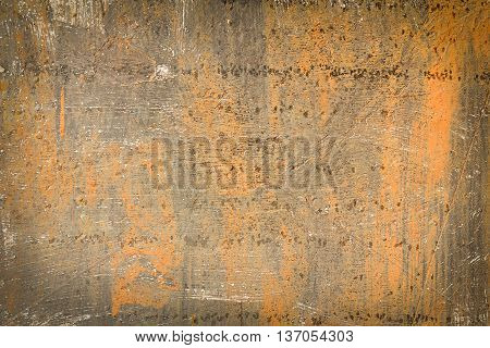 Rust Texture As Metal Plate