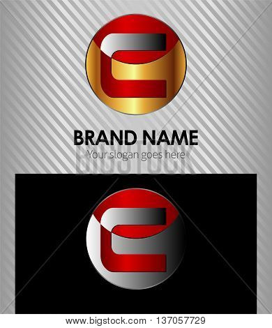 Letter C template design element vector Letter C