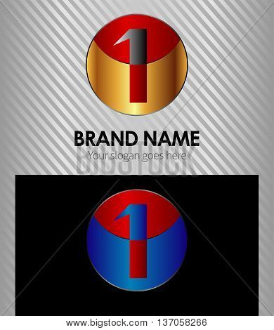 Number one 1 logo icon template Number one 1 logo icon template