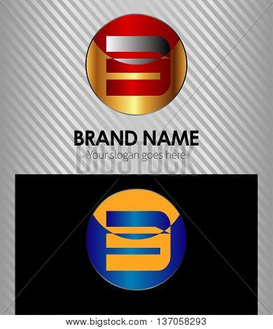 Number three 3 logo symbol design template elements