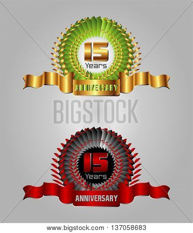 15 year Anniversary vector celebration template design vector