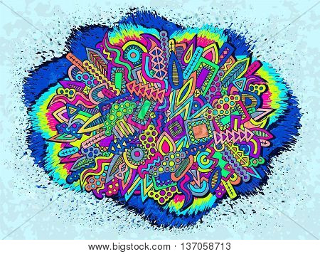 Doodle Abstract Ethnic Elements Trendy Summer Ornament 1