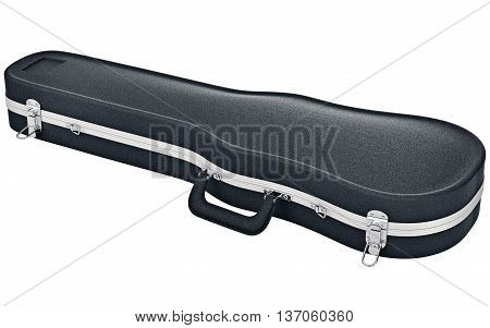 Case viola violin modern plastic black. 3D graphic