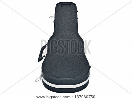 Classic case for safety viola violin, top view. 3D graphic