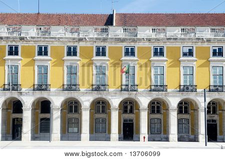 Yellow facade