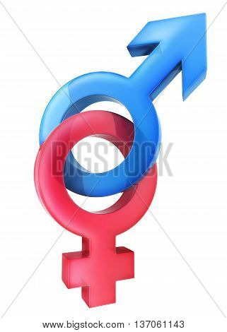 Symbol men and woman (done in 3d rendering)