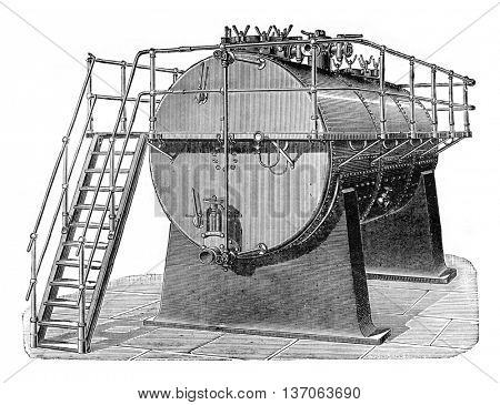 Macerator, vintage engraved illustration. Industrial encyclopedia E.-O. Lami - 1875.