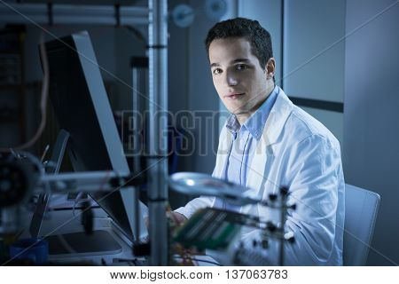 Young Researcher In The Lab
