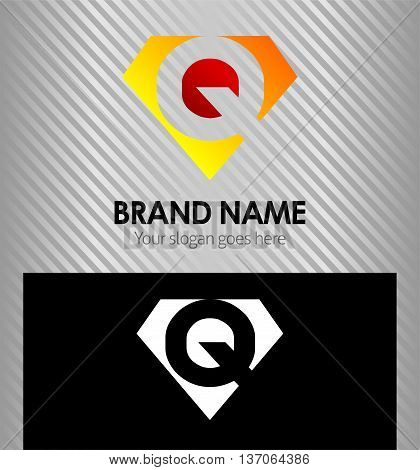 Letter Q logo vector alphabet shape, concept type as logo Q