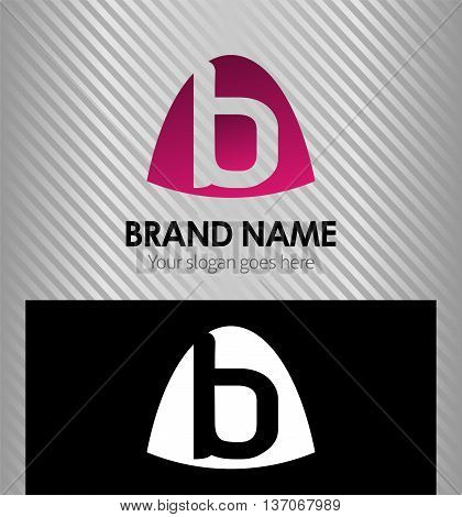 Abstract Letter b Icon logo template design vector