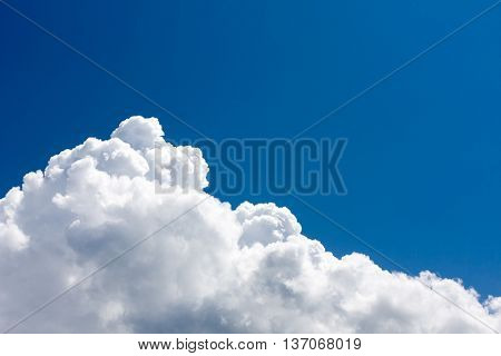 Abstract nice white clouds in blue sky