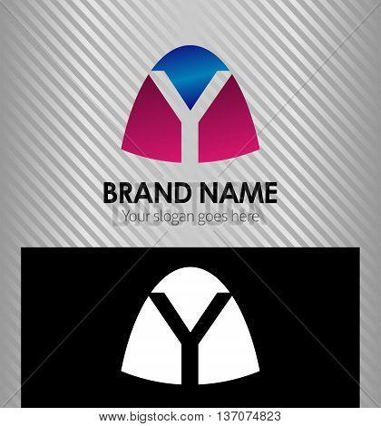 Abstract letter y logo Abstract letter y logo