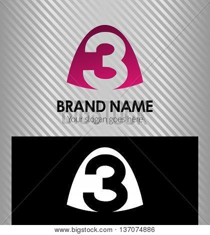 Number three logo.Logo 3 vector template template design vector