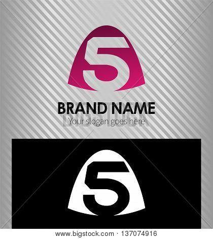 Number five logo.Logo 5 vector template template design vector
