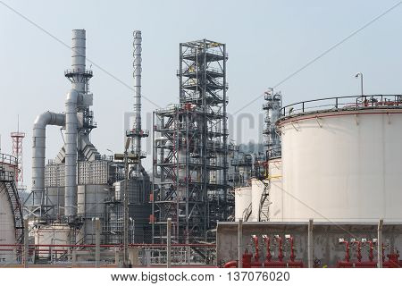 Oil Refinery factory close up, Petroleum, petrochemical plant