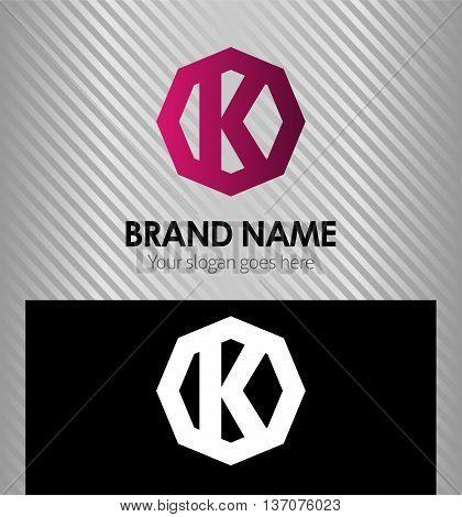 Letter K logo template design element vector