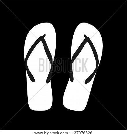 Pair of flip-flops. Vector illustration. white color