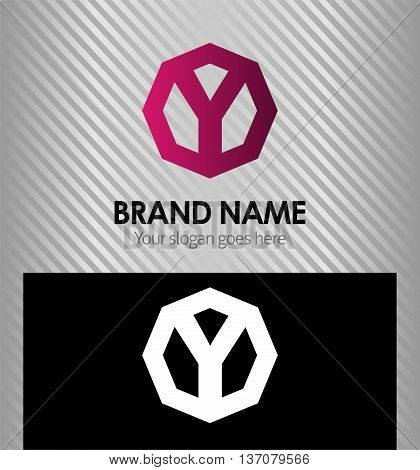 Abstract Vector Design Template. Creative Letter y