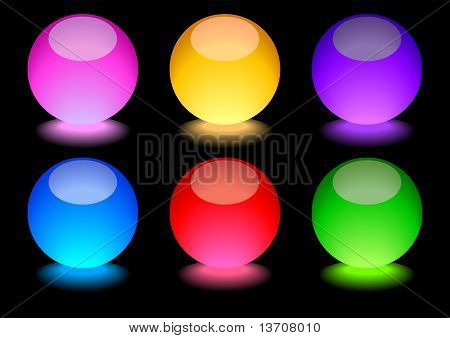 Glowing Spheres