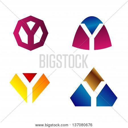Letter y Alphabetical Logo Design Concepts template design vector