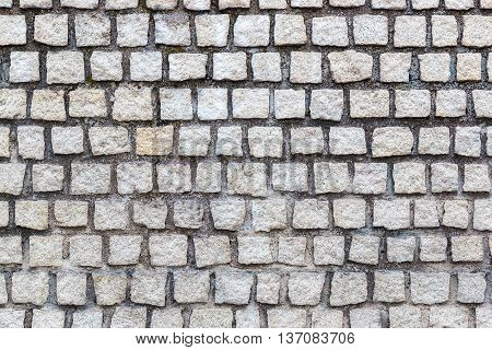 White Brick Wall Pattern Texture For Background.