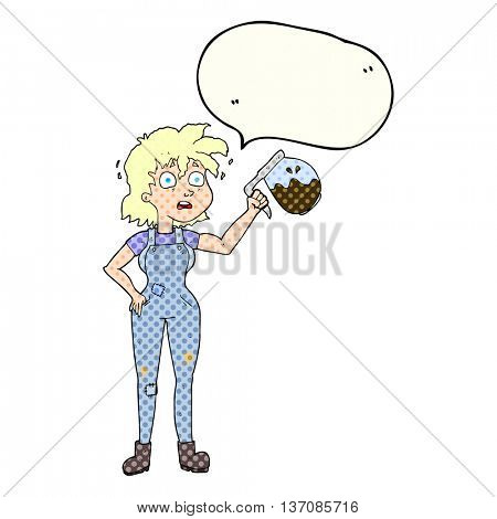 too much coffee freehand drawn comic book speech bubble cartoon