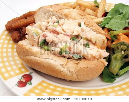 Lobster Roll Sandwich Meal