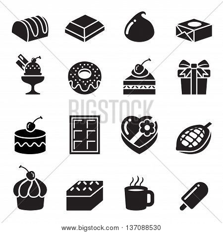 Chocolate Icons set Vector illustration Graphic design